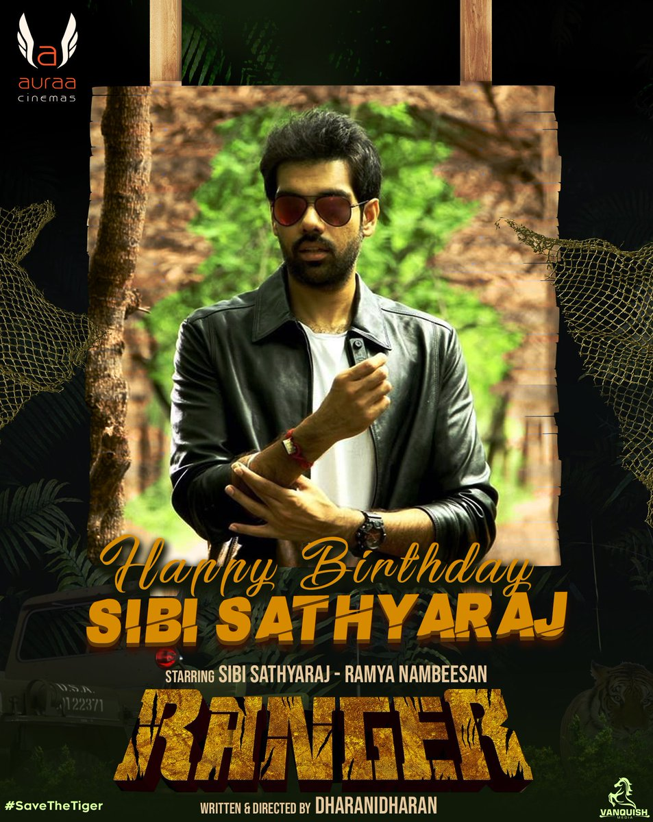 Happy Birthday To Our Hero  @Sibi_Sathyaraj 💐  Let's have a blasting year ahead with #Ranger  @nambessan_ramya @Dharanidharanpv @DoneChannel1 @VanquishMedia__ https://t.co/OlWtVuQrcE