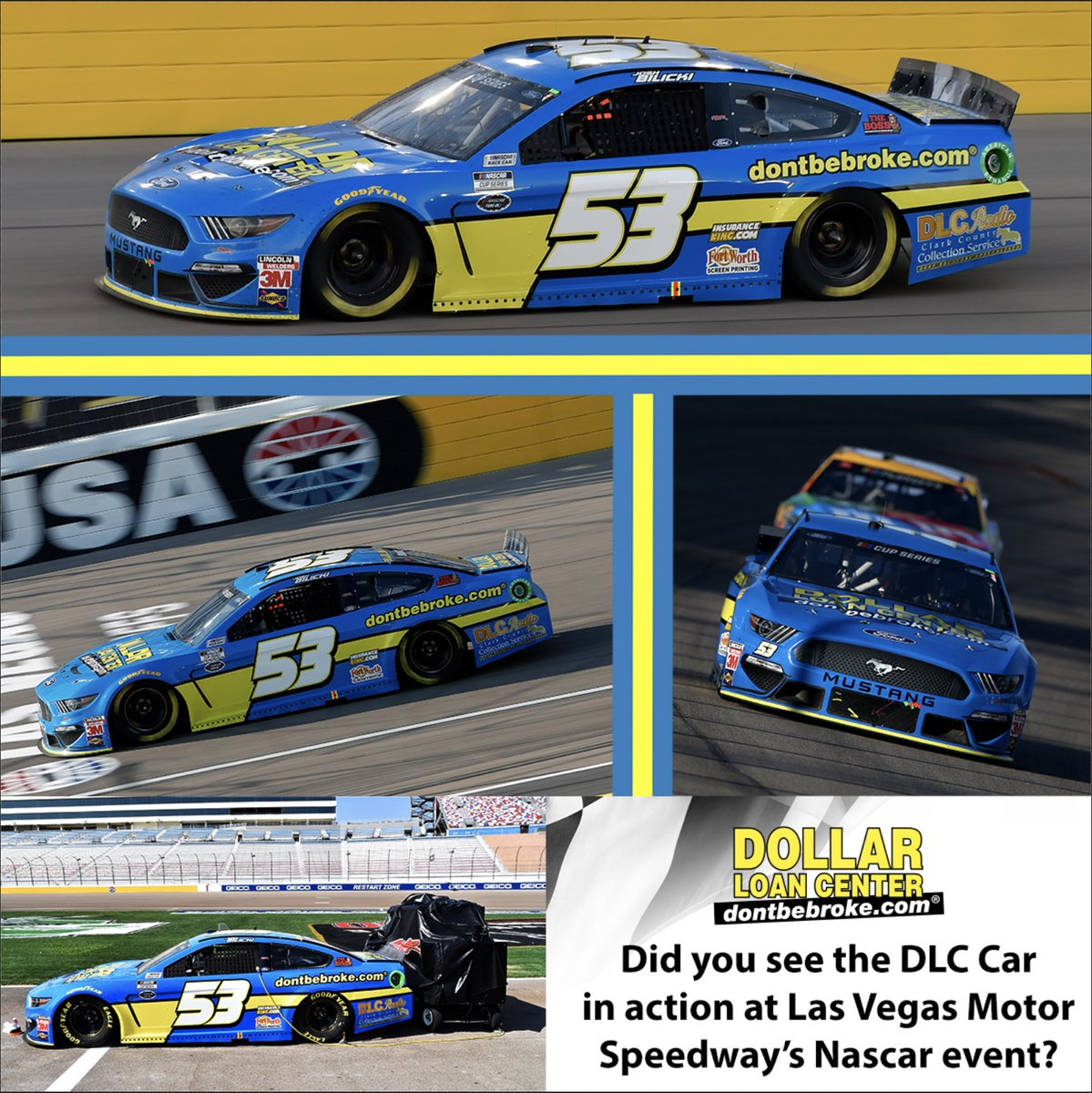 Did you see the DLC Car in action at Las Vegas Motor Speedway's Nascar Event? https://t.co/7YzgJBG5d3
