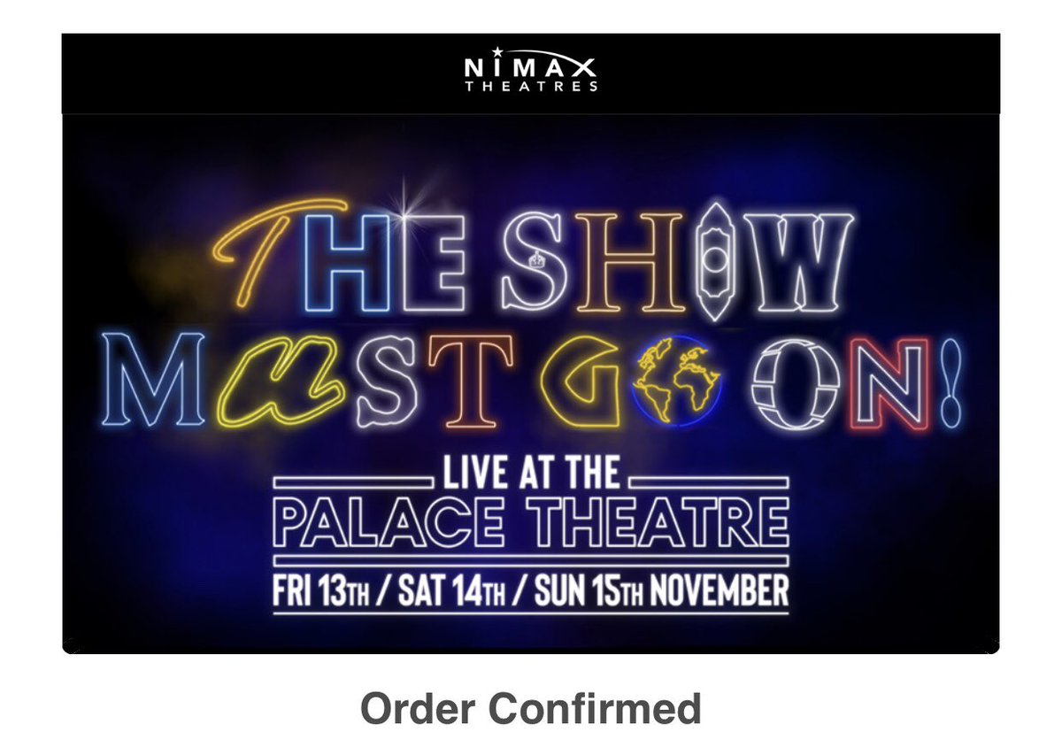 Beyond excited that my mum has got tickets for this! Definitely wearing my t-shirt. #TheShowMustGoOn #FleabagforCharity #backtomyhappyplace #thepalacetheatre #sundaymatinee