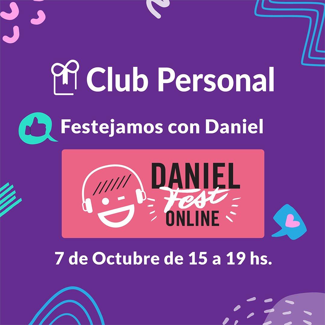 En #ClubPersonal festejamos el #DiaDelHeladoDaniel.  Participá de su 6ta edición del evento online desde @heladosdaniel el 7/10 de a las 15hs. Inscribirte en https://t.co/KfyVRUNxIj  ¡Desde la app de #ClubPersonal, podés pedir tus códigos de descuentos! https://t.co/yozECKANty