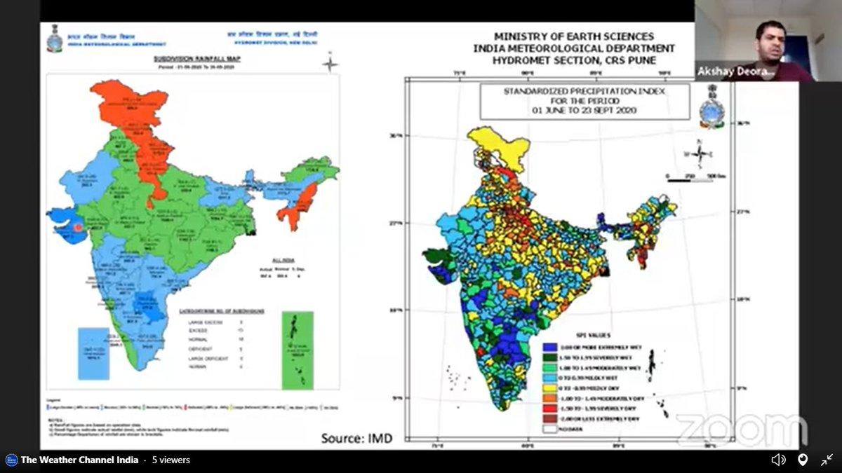 "#monsoon2020  | ""Broadly it seems to have been a good #Monsoon season for the country"": @akshaydeoras on #LetsTalkWeather https://t.co/aRDmAypLtL"