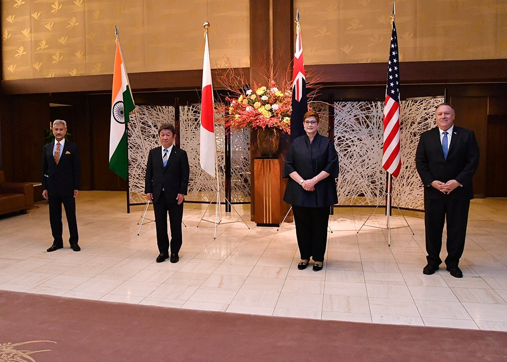 第一次安倍政権以来、目指してきた日・米・豪・印外相会合。 昨年の国連総会の場における会合以来、今回は東京で開催することができました。 素晴らしいメッセージが発信され本当にうれしく思います。