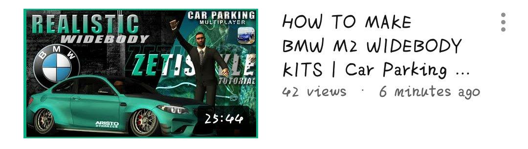 Car Parking Multiplayer 📌 | zeti • widebody kits • #CarParkingMultiplayer #CPM #Gaming #Gameplay #Game #Openhood #Livery #Widebody #LibertyWalk #Tutorial #RustyDecals #YouTuber #YoutubeGaming #zeti #BMWM2 https://t.co/EoRv0uVXTU