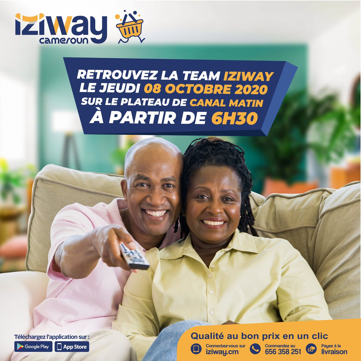 Rendez-vous: 🗓 Jeudi 08  ⏰ 6:30 AM 📺 @canal2inter / Canal matin  #iziway #television #canal2 #canalmatin https://t.co/3KRjr8nDQY