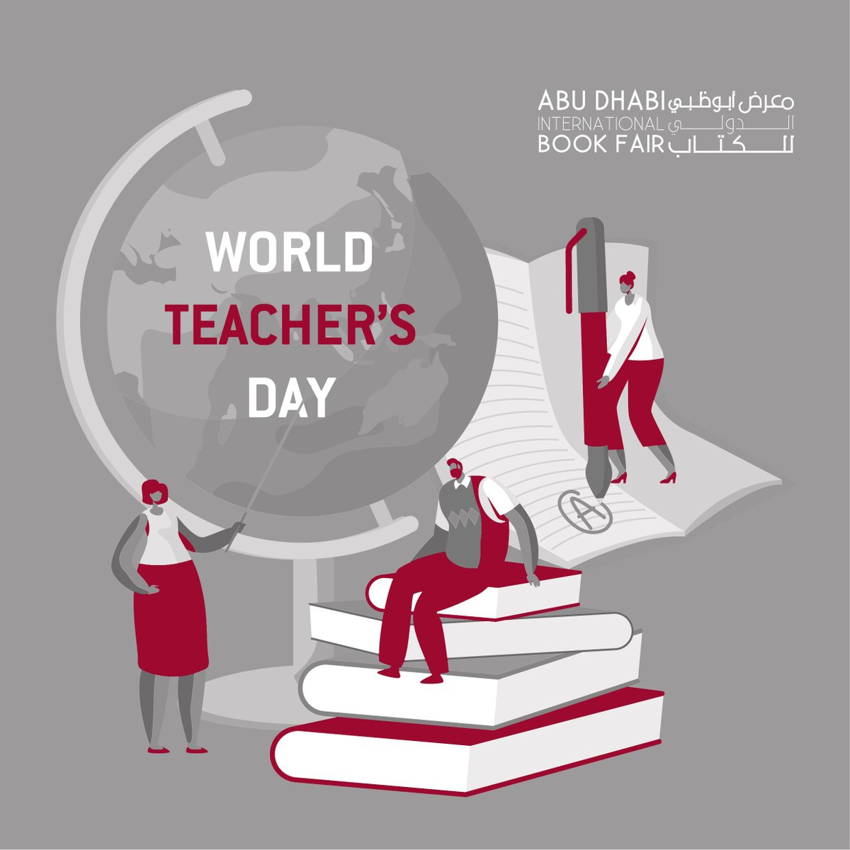 #WorldTeachersDay. Please like, retweet your amazing teacher by telling us their name, school or university and why they are wonderful. Let's help share the ❤️for our hardworking teachers.  #ADIBF #Reading #Books #Culture #InAbuDhabi #CulturAll https://t.co/js3NrR11Wo