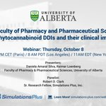 #TrendingTopic: Application of #ADMETPredictor to #phytocannabinoids metabolic pathways. Join the Oct. 8 #webinar with @UAlberta_Pharm & @DrBobClark1 to learn more: https://t.co/cu3UfKclpn