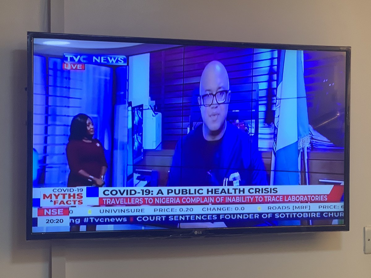 'While we are grateful for our ability to manage the #COVID19 pandemic so far in Nigeria, we recognise the continuous risk globally. The challenge for us therefore is to sustain our collective efforts & not let down our guard' ~ DG NCDC @Chikwe_I on @TVCNews_Africa