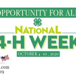 Image for the Tweet beginning: It's National 4-H Week! 🍀 This