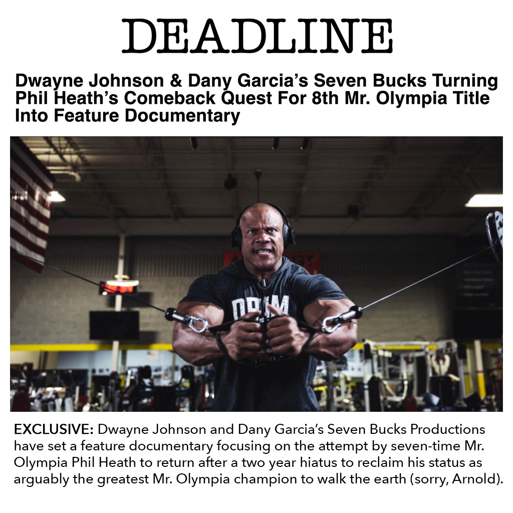 I'm grateful to announce this project that's been in the works for a while - A doc film following my journey on and off the bodybuilding stage. Thank you @SevenBucksProd, @DanyGarciaCo, @TheRock & Brett Harvey for agreeing to tell my story.