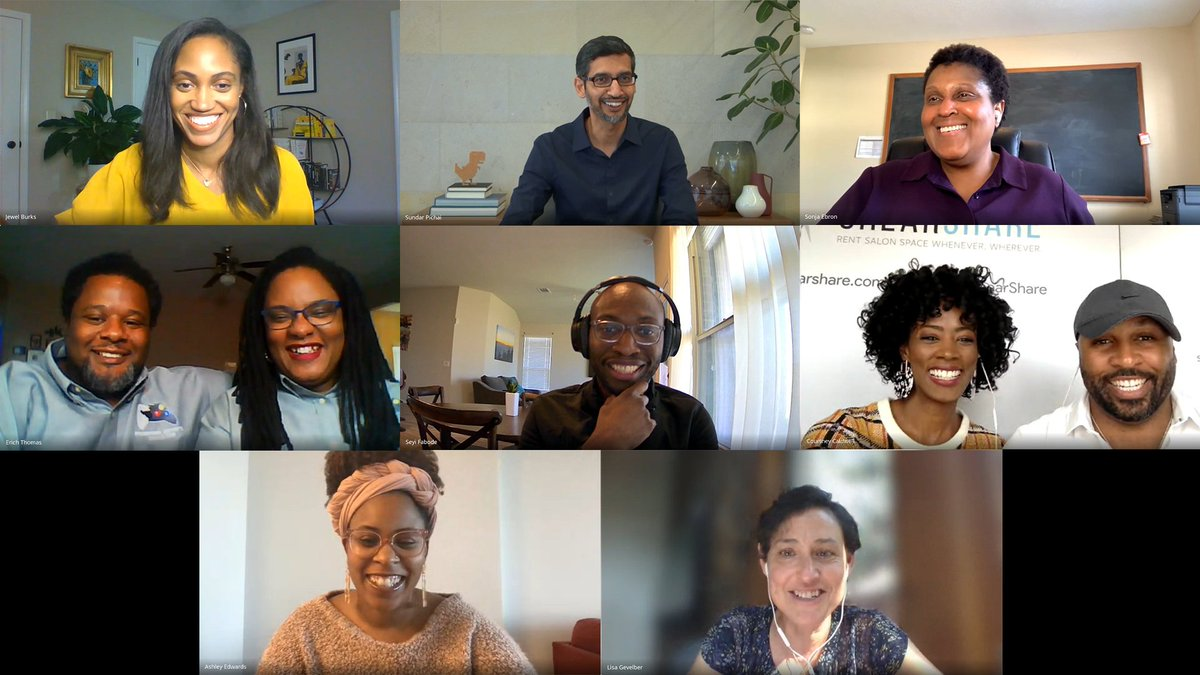 Congrats to the 76 founders who will be receiving awards from the $5M @GoogleStartups Black Founders Fund. Great to chat with some of them last week - thank you for sharing your goals, challenges + insights!