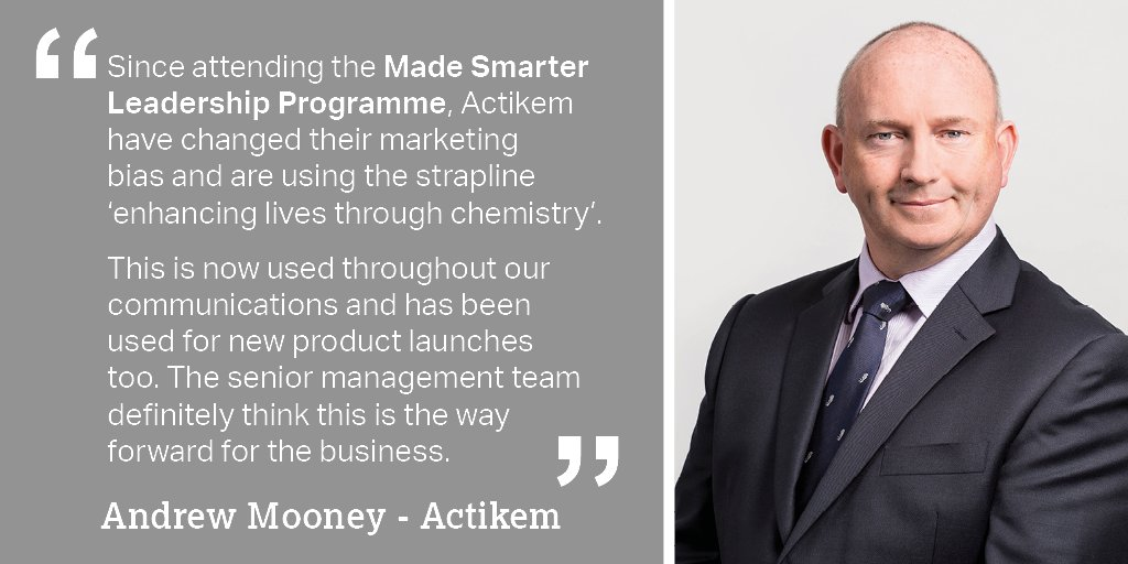 Andrew Mooney, Managing Director of @Actikem based in Warrington talked about the benefits the #MadeSmarter #Leadership Programme have had on his business. Find out more about the programme today: https://t.co/K3Mi4BUONC @MadeSmarterUK #MSLP #industry40 #SME #ukmfg https://t.co/AZsoZqlKzH