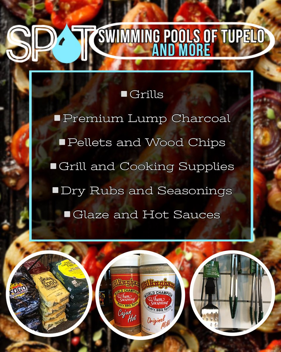#GrillingSeason is HERE & Your One-Stop Grill Shop Has All the Top Brand Equipment You Need for Easy Cookin' All Season Long!#SwimmingPoolsOfTupelo  #BigGreenEgg #TraegerGrills #GreenMountainGrills #PKGrills #PitBarrelCooker #WeberGrills https://t.co/TvXr1fTUHf