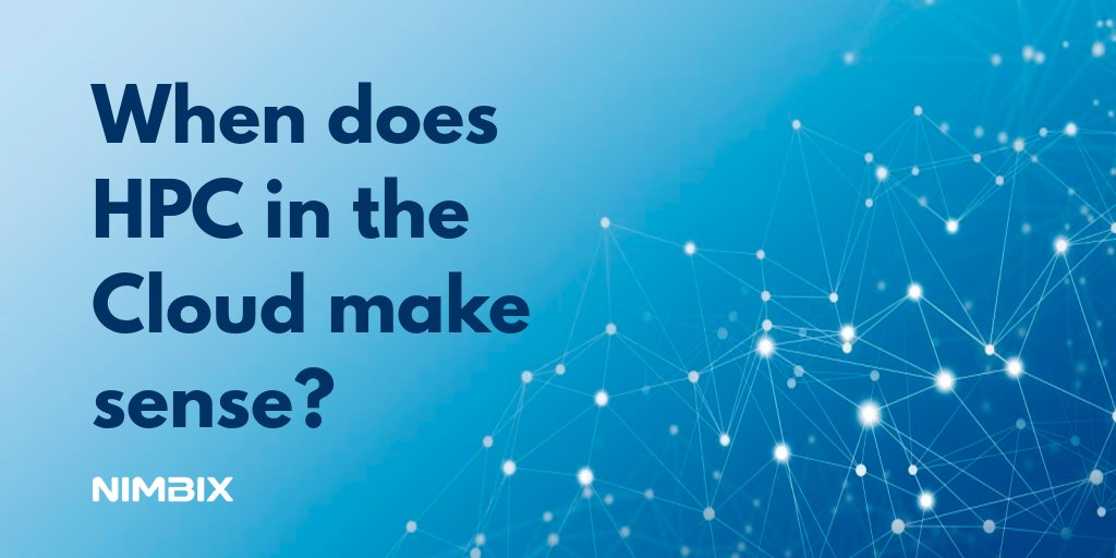 At what point should you deploy #HPC on the #cloud? Learn helpful tips you should consider before making a change.  https://t.co/xc7em8oUwB https://t.co/jkDj9q3alb