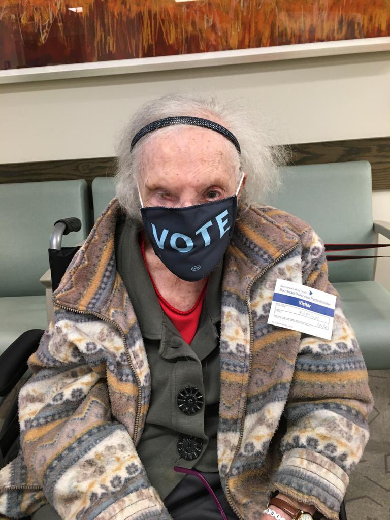 My grandmother is turning 100 in January. She has said repeatedly her only goal in 2020 was to stay alive long enough to vote Trump out of office. Today she mailed in her ballot, accomplishing that goal. Vote. #fucktrump #votemask #99yearsold #turning100 #vote2020