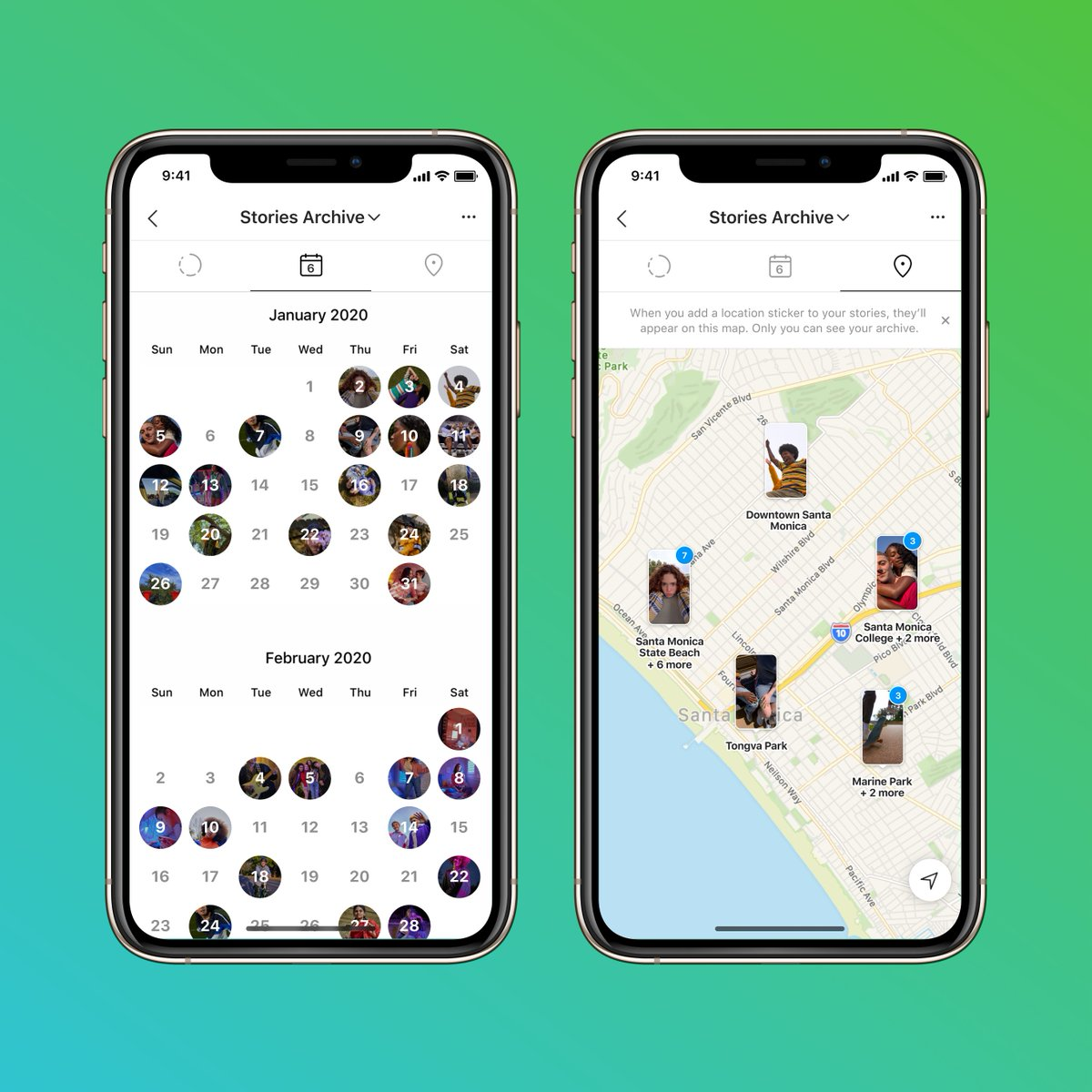 Pro tip 📣  Go to your stories archive for a map and calendar of your stories from the last three years.   Share, download and save them to your highlights. 🎉