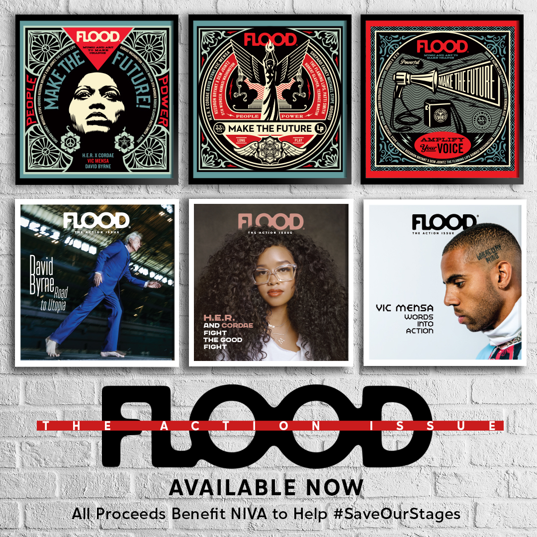 I was honored to create this issue of @floodmagazine's cover art, which is meant to inspire action and hope for the future. Proceeds will be donated to the NIVA Emergency Relief Fund @nivassoc to help #SaveOurStages! More here: https://t.co/Q1wSCB9X5v -S https://t.co/2U8U3jwktJ