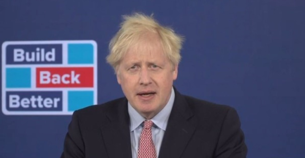 Johnson makes a speech in an empty room, consisting entirely of empty promises. #JohnsonSpeech