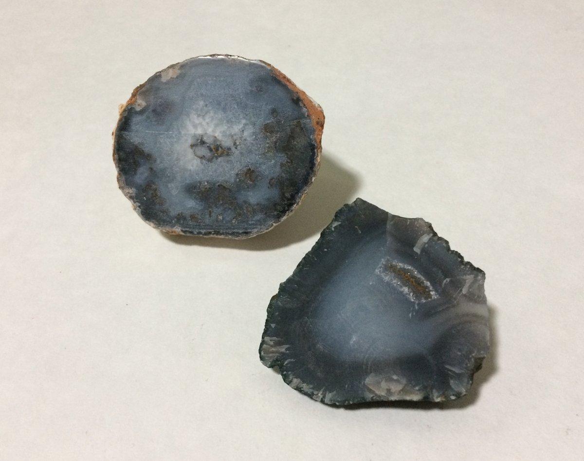 Check this out and more in our #etsy shop: Lot of 2 Blue Denim Agate Geodes Unpolished 3+6 oz Rocks Crystals Minerals https://t.co/uwqUJwPr7V #rock #agate #decor #blueagate #geodes #reiki #metaphysical #meditation https://t.co/em2sQG8cvY