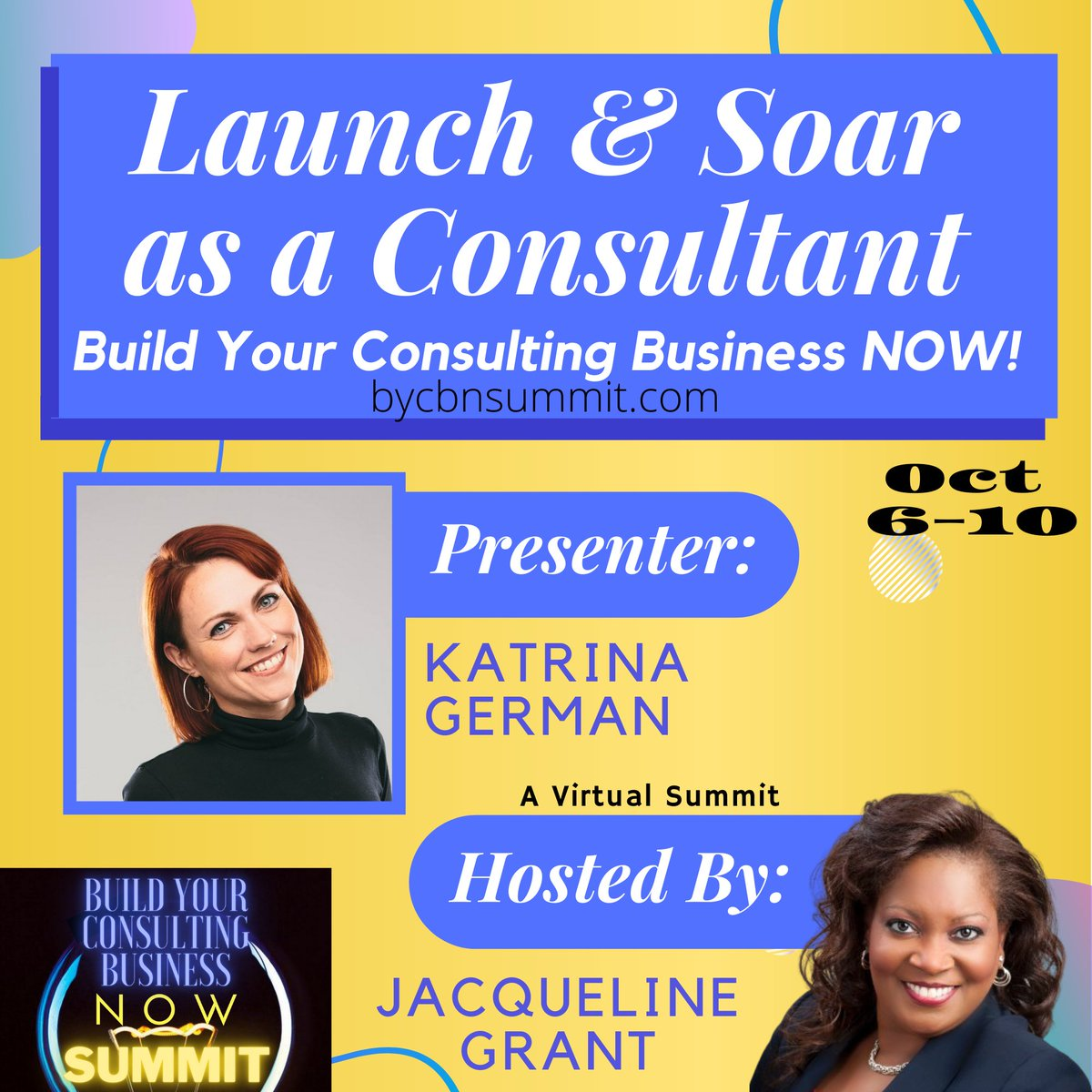 I wanted to make sure you saw this game-changing event, the Build Your Consulting Business NOW! ONLINE web-summit! I am so excited that I was asked to be one of the expert presenters. https://t.co/J0b621Ap82 #womeninbiz #buildit https://t.co/WZ6tsjahXH