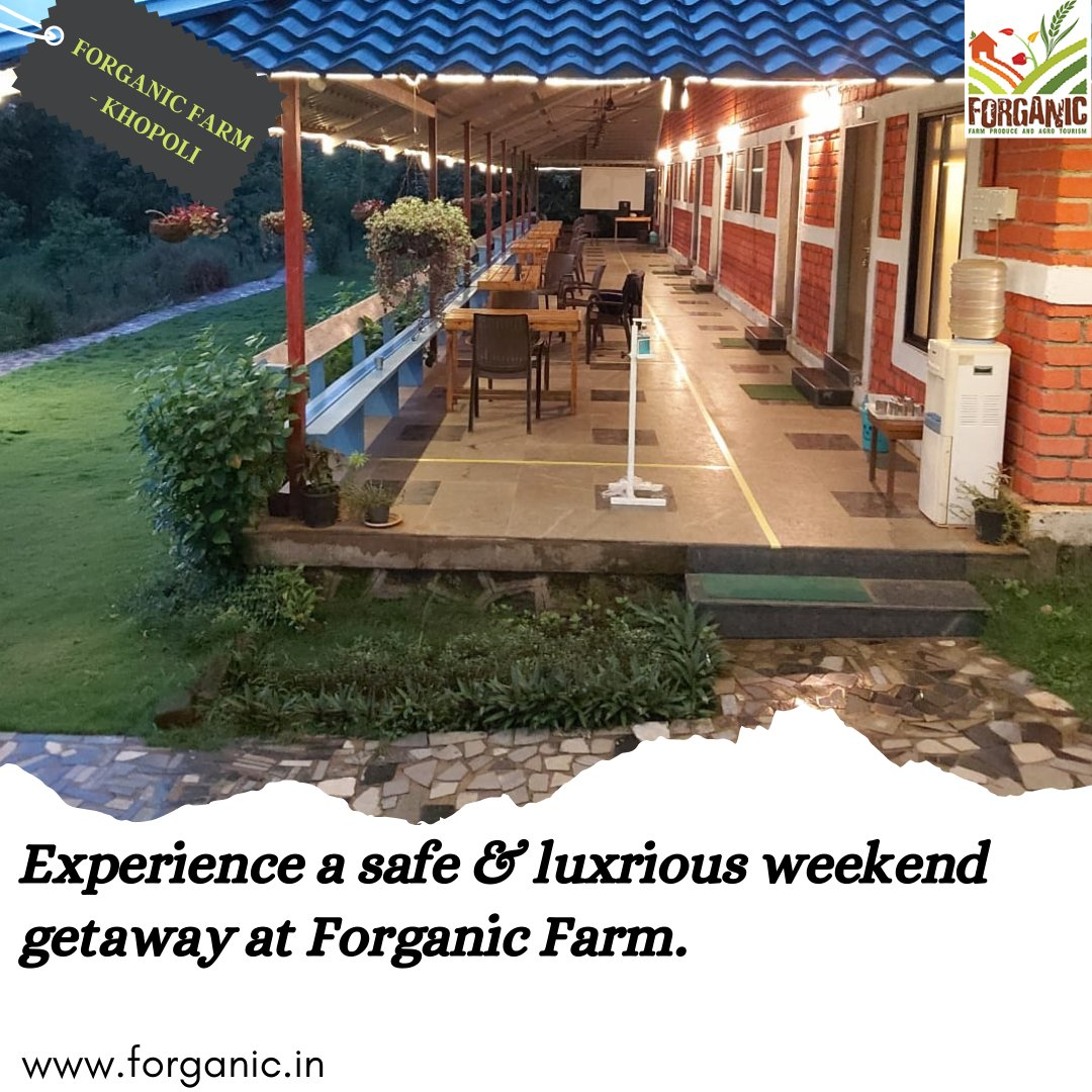Create memories you cannot put into words at Forganic Farms with safe, well sanitized and nature rich surroundings. Book now at- https://t.co/nHkCBmHv2G . . . #forganicfarm #khopoli #stayhere #staysafe #travel #staycation #postcovidtravel  #travel #pune #maharashtra #punekar https://t.co/MJhad0J7Yp