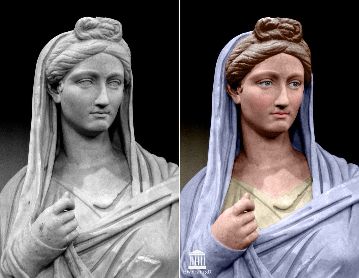 Vibia Sabina, wife of #Hadrian. Photo Credit: History in 3D. https://t.co/HqyYPXyNiJ