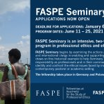Image for the Tweet beginning: Interested in applying for FASPE
