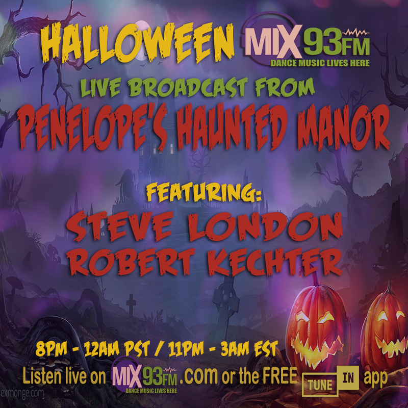 Saturday OCT 31st #LiveBroadcast   #Penelopes #HauntedManor #LosAngeles 8pm PST - 12am / 11pm -3am EST / 4am-8am UK on #DanceStation https://t.co/ZAdSHH07NQ or look for #Mix93fm on free TuneIn app #Halloween #Housemusic #Techno #Electro #DrumandBass  #Trance #DanceMusicLiveshere https://t.co/QvKWiVmfeU