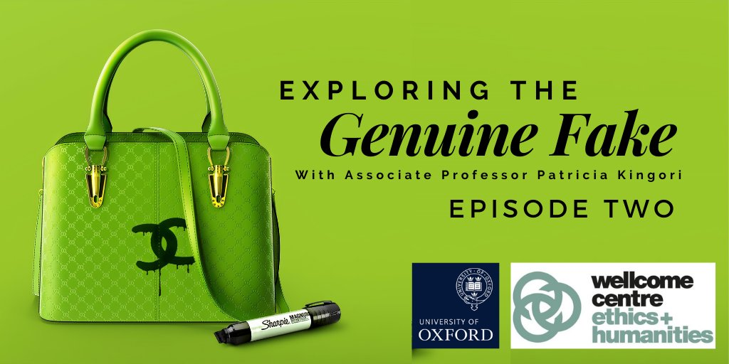 Have a listen to episode two of our Genuine Fakes podcast exploring what is real and fake in online dating, fiction, architecture and fashion. Link here: https://t.co/daJNdKvoWh @Jose_Teunissen @SomervilleOx @LCFLondon @VidaConsultancy @Oxford_NDPH https://t.co/iaogDCSHtl