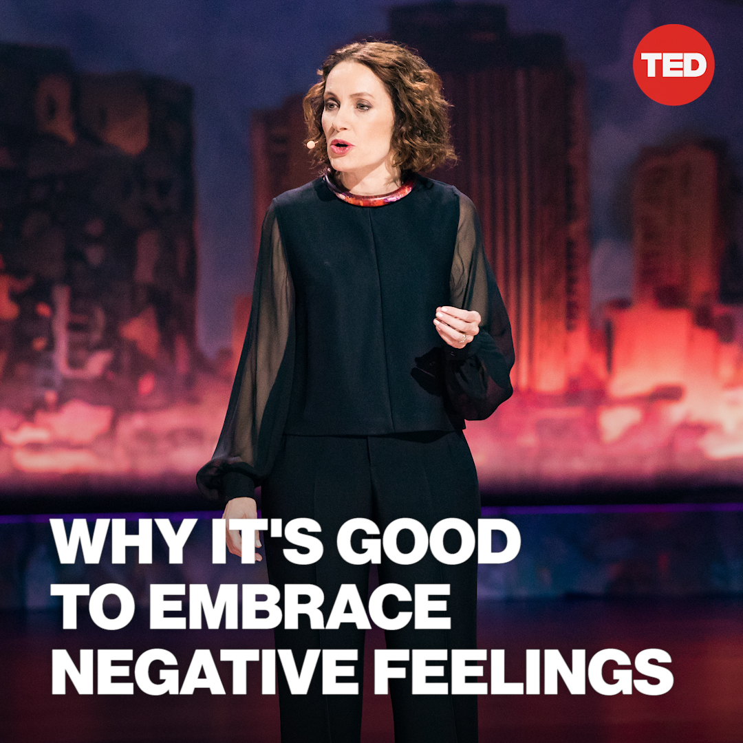 "There are no ""bad"" emotions. Here's how to stop avoiding — and judging yourself for — anger, sadness and other unwanted feelings.  Watch @SusanDavid_PhD's full TED Talk here:"