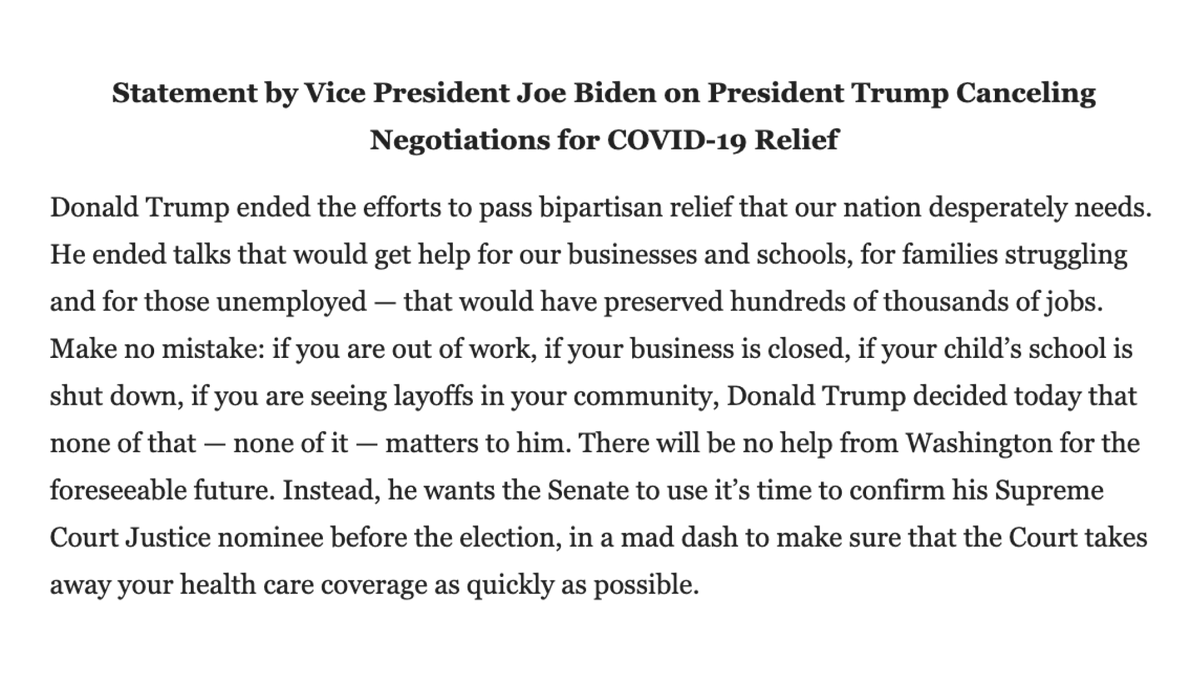 RT @JoeBiden: The President turned his back on you. https://t.co/oeI8dck2LL