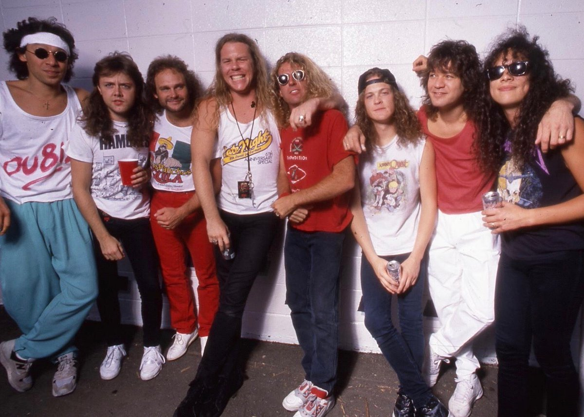 We are enormously saddened to hear about the untimely passing of Eddie Van Halen. We considered him an inspiration, an idol, and after spending a summer together on the road in '88, a friend. Sending love to Alex, @wolfvanhalen & everyone in the greater VH family.  📸 @RossHalfin https://t.co/wZ9ZKNmK0q