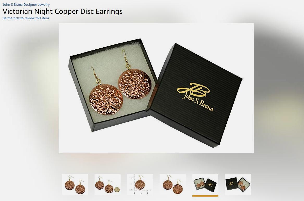 NEW! Eye-catching Victorian Night Copper Disc Earrings Shown on #Amazon #LargeEarrings https://t.co/KVtgJ1SuPB #handmadejewelry https://t.co/THPoyZi5Y7