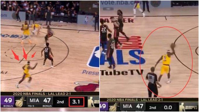 【影片】還剩3.1秒!詹皇卻放棄進攻,隊友要球他不給,軟豆氣的砸球!
