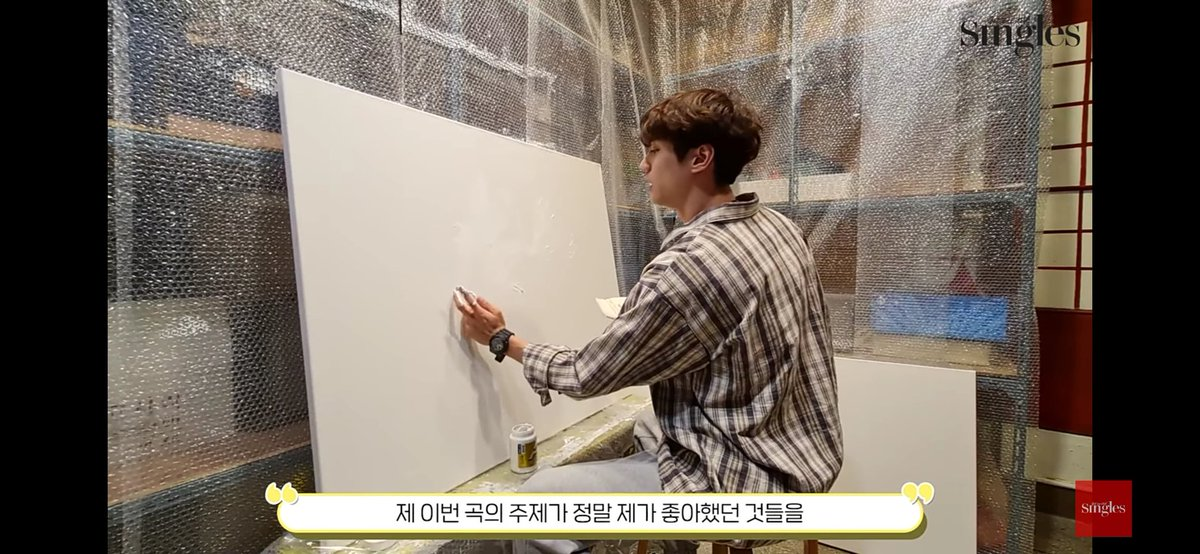 Theme of the drawing: Some of my thoughts now and some of my vague past.Theme of the new song: Show something I like very much without hesitation. I wrote the melody and lyrics and set the direction of the mv.The drawing will appear in the mv subject to the company's view.#이준영
