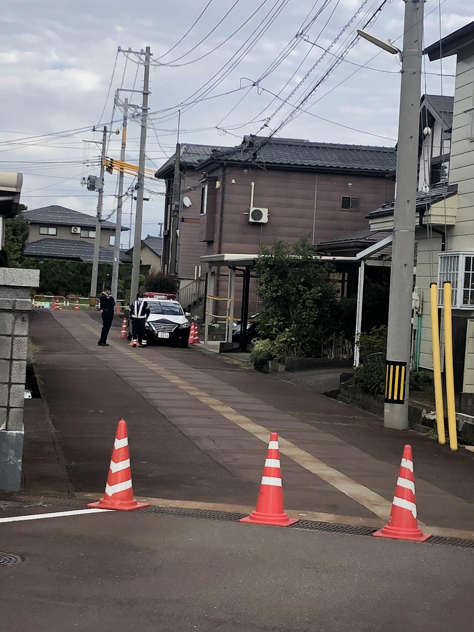 長岡市中之島の殺人事件現場の画像