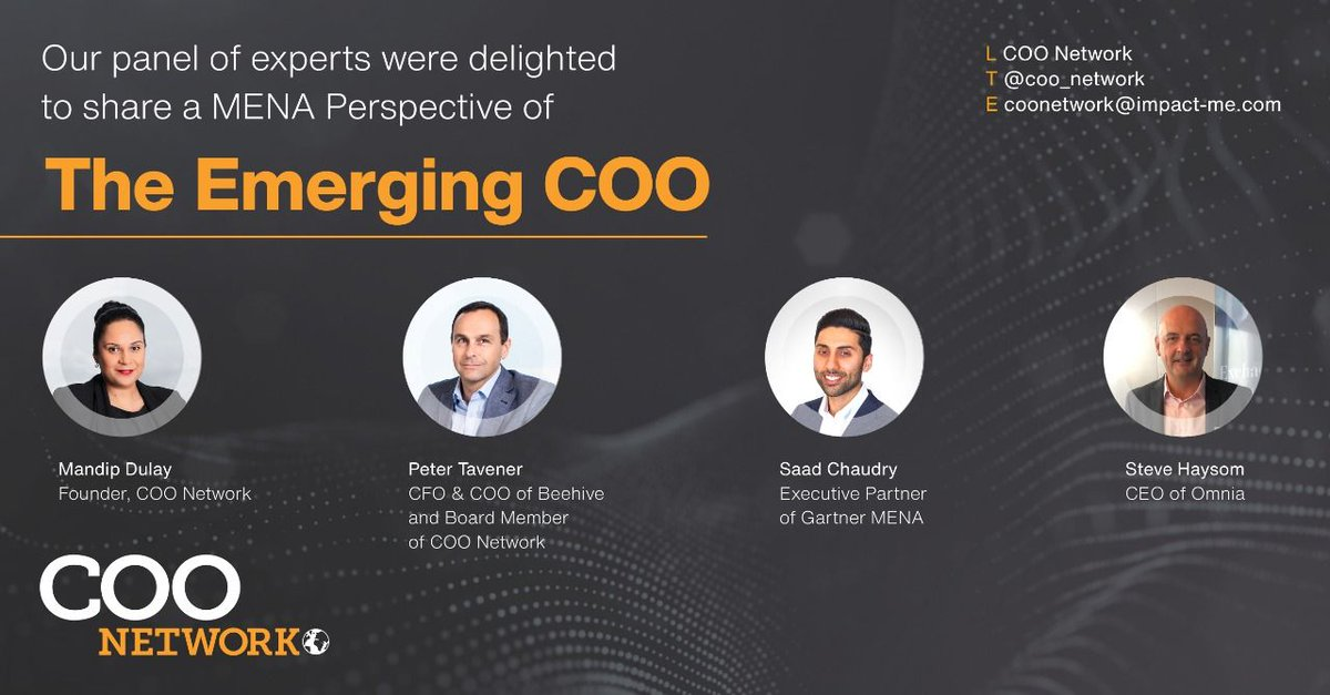 Beehive's CFO and COO, Peter Tavener joined other industry experts to share insights about the emerging COO which was featured in the COO Magazine of Amstrong Wolfe  Read the MENA article here: https://t.co/7VcCeiNvsf https://t.co/jPxOIu7L9m