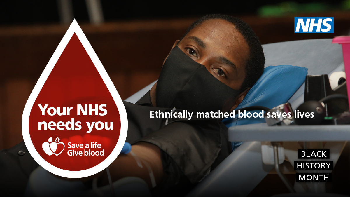 This #BlackHistoryMonth, we're asking more Black residents in Cambridgeshire and Peterborough to become blood donors. Some patients who receive frequent blood transfusions need blood to be closely matched to their own. Becoming a blood donor will help you save lives. https://t.co/ql5kCBFBOO