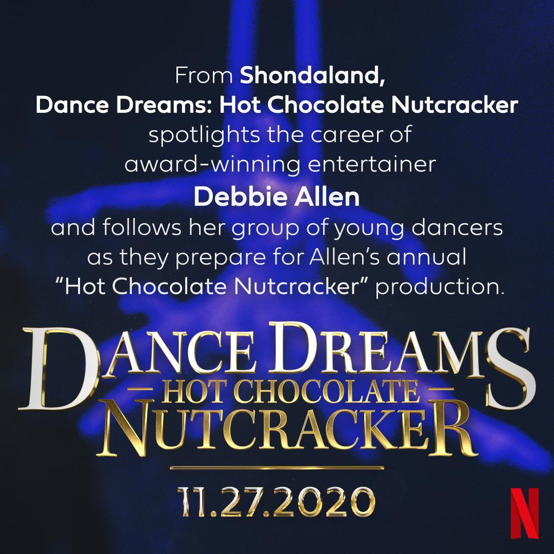 Global Family, SAVE THE DATE! ✨ Dance Dreams: Hot Chocolate Nutcracker is coming to @Netflix on Nov 27! It was a dream come true to make this documentary with @Shondaland and I can't wait for you to see it. Get ready to DANCE! https://t.co/52QugdLnot