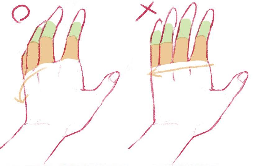 手を描くとき、これさえ覚えておけばわりと何とかなると言っても良いやつ。