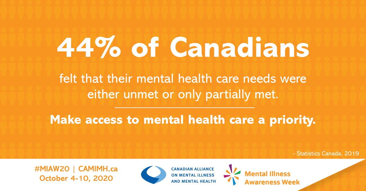 Make access to Mental Health Care a priority. With the rise in social isolation due to #COVID19, access to mental health care, has to be a priority! Learn more about Mental Illness Awareness Week here: ow.ly/W8gz50BLTlX #MIAW20 #SDOH