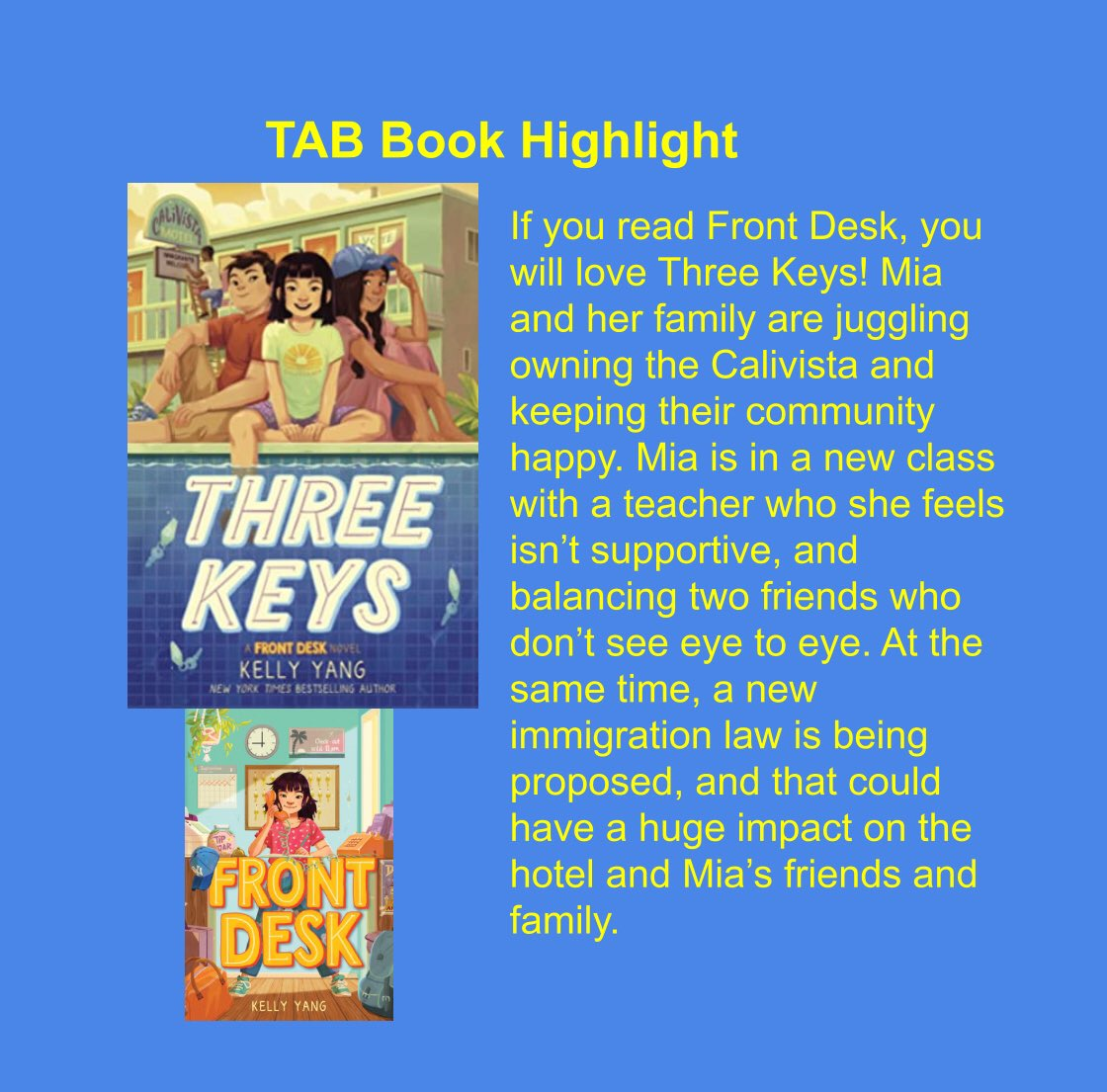 TAB starts tomorrow! We are so excited to get started. Find the link on the after school activity page, or message any librarian for help. We will meet during lunches. Here's a preview of one of this years TAB books. <a target='_blank' href='http://twitter.com/APSLibrarians'>@APSLibrarians</a> <a target='_blank' href='http://twitter.com/kellyyanghk'>@kellyyanghk</a> <a target='_blank' href='http://twitter.com/ArlingtonVALib'>@ArlingtonVALib</a> <a target='_blank' href='http://twitter.com/JeffersonIBMYP'>@JeffersonIBMYP</a> <a target='_blank' href='https://t.co/IEvFT7ECm6'>https://t.co/IEvFT7ECm6</a>