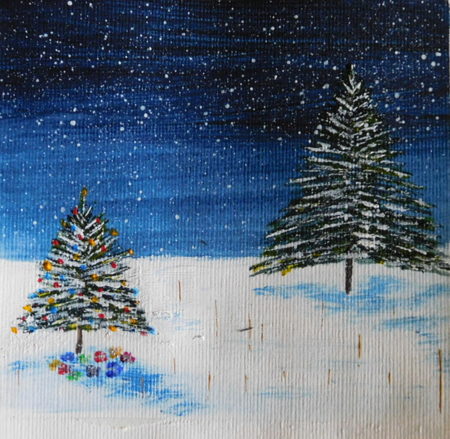 Morning #elevenseshour one of my little Christmas cards simply called Christmas Trees.  Available on my fb page or dm me here. #Christmas2020 #ChristmasCards #LincsConnectChristmas  https://t.co/KDBcXQOb0W https://t.co/P2eZ6aDXzI