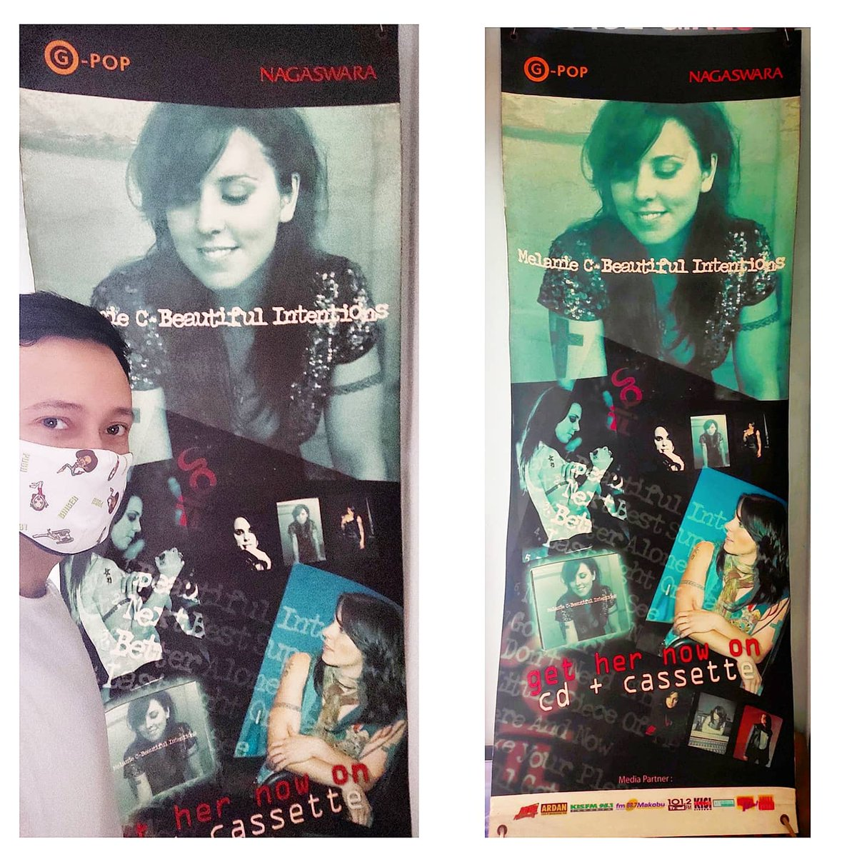 """Super Mega Rare! And the only one in Indonesia 🇲🇨 ✌️Official & Original from 2005 @melaniecmusic Promotional Vinyl Banner (150cm x 35cm) for her 3rd Studio Album """"Beautiful Intentions"""" from @nagaswaraofficial & with various Indonesia Media Partners. #melaniec #spicegirls https://t.co/kH2Ixbx7BB"""