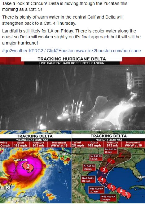 Tracking #Delta @KPRC2WEATHER @KPRC2 #go2weather http://www.click2houston.com/hurricane