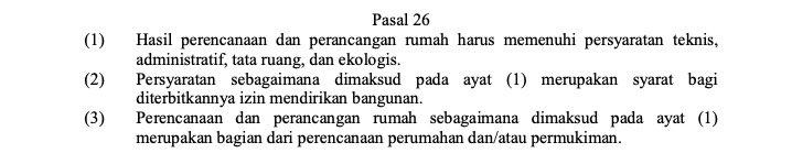 UU No 1 tahun 2011 tentang Perumahan dan kawasan Permukiman