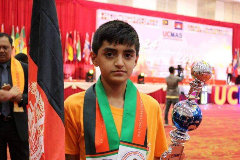 An Afghan boy topped the mathematics exam attended by representatives of 40 countries in #Cambodia.  The talented #Sibghtaullah is from the southern #Helmand province living in #Herat city of #Afghanistan. 🇦🇫  We wish him a bright future. 👍 https://t.co/NuWE1s64oY