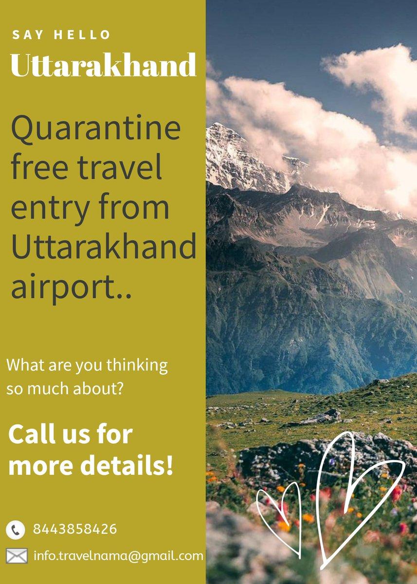 Uttarakhand is now quarantine free... . . . #travelislife #travelbloggerlife #uttarakhand_loversss #uttarakhan_travel_diaries #uttarakhandvibes #qurantinefreestyle #uttarakhand_photos #letsgoshooting #letsgotravel https://t.co/I2xILkpKEW