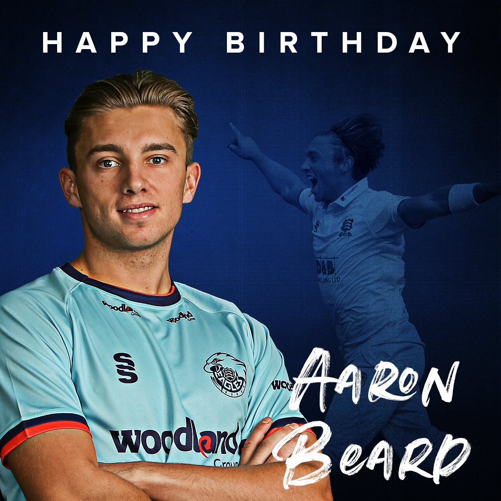 🎂 Happy Birthday to Essex bowler @aaronbeard_14, who turns 2⃣3⃣ today 🙌 We hope you have a great day Beardy 🥳
