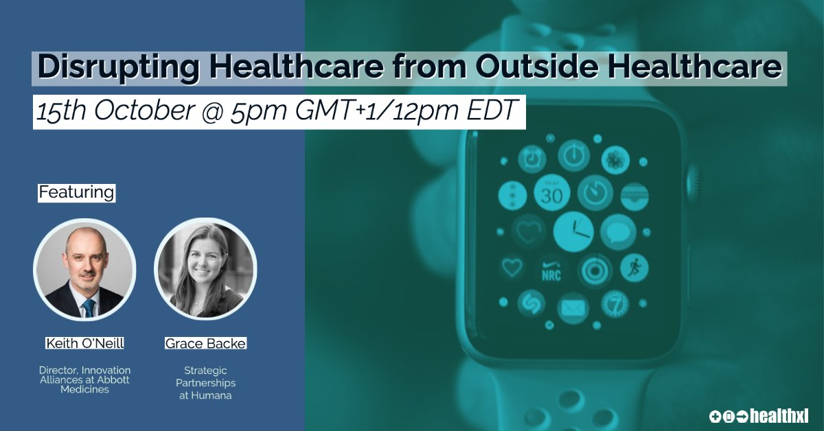 """Join us for our next #virtuallunch this Oct. 15th where we will be discussing """"Disrupting Healthcare from Outside Healthcare""""⌚Meet new people, gain insights and leave looking forward to the next meeting.  https://t.co/aYnhqZQSsC  #digitalhealth #healthxl @martykelly @DrNoCraic https://t.co/jc6nwk68Zh"""