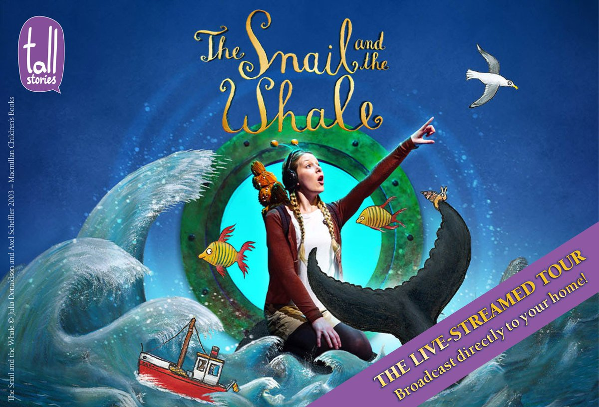 """Tall Stories proudly present, exclusively for New Theatre audiences, a live-streamed performance to your home of """"The Snail and the Whale"""".  Saturday 24th October 2020 at 11am   Ages  4+  BOOK NOW ! https://t.co/5VUHcA5jid  #tallstoriesproductions #thesnailandthewhalelive https://t.co/TeboPR1zQI"""